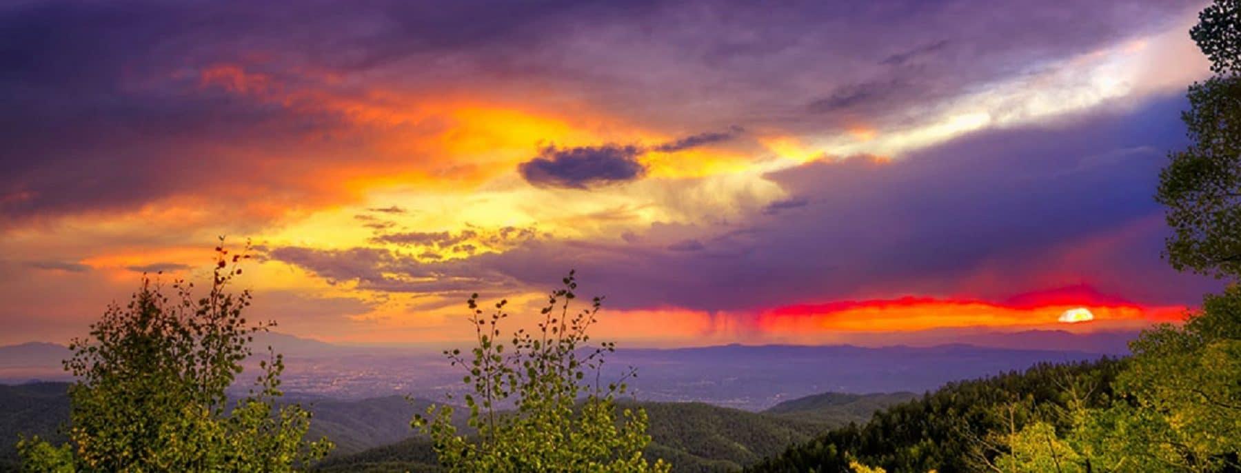 a beautiful Santa Fe sunset