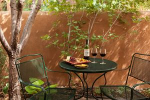 santa fe bed and breakfast private patio